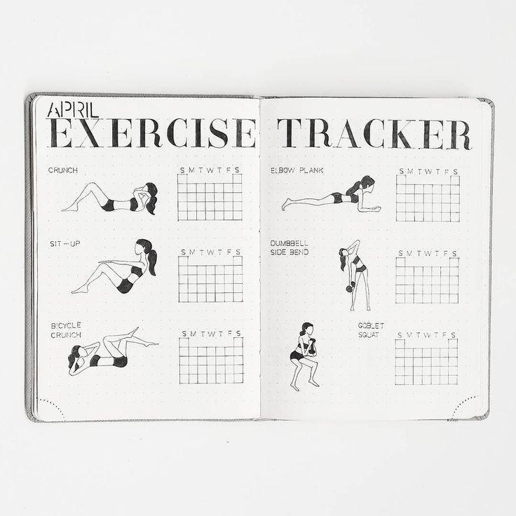 Tracker d'exercice Bullet Journal