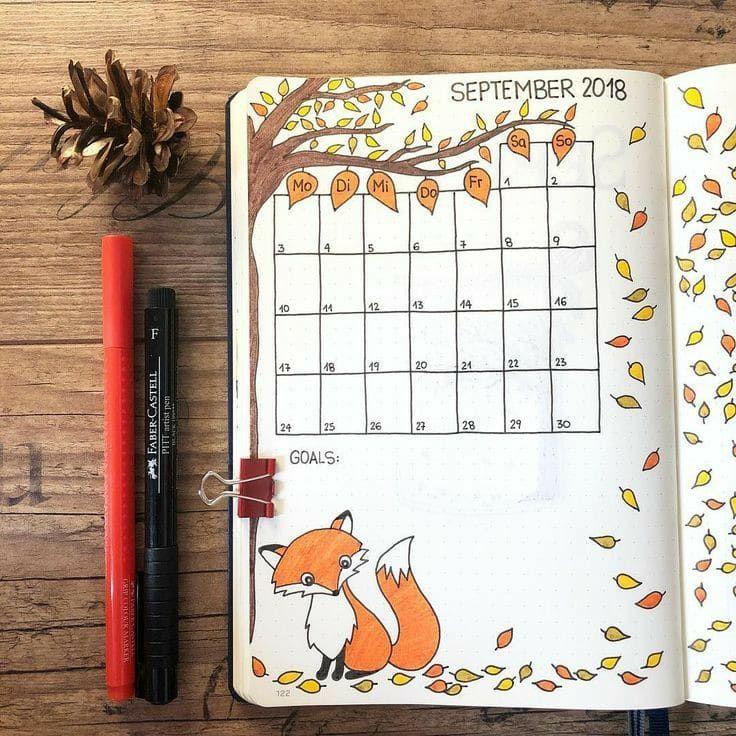 Bullet-journal-Monthly-log
