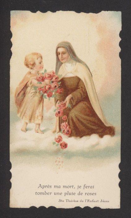 Image de prière Ste Thérèse de Lisieux